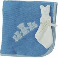 Kit Manta E Naninha Azul - Zumm Caramelo