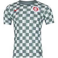 Camisa De Treino Do Internacional 2019 Nike Dry - Masculina - Cinza Escuro/Branco