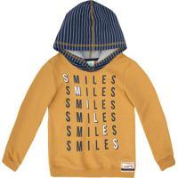 """Blusã£O """"Smiles""""- Amarelo & Azulpuc"""