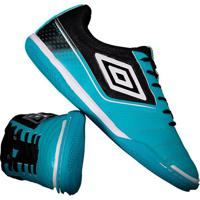 Chuteira Umbro Match Futsal Azul E Preta
