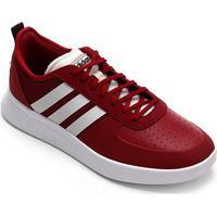 Tênis Adidas Court 80S Masculino - Masculino-Vermelho+Branco