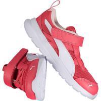 Tênis Puma Flex Essential V Infantil Feminino Rosa
