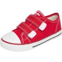 Tênis Diversão Canvas Velcro Vermelho
