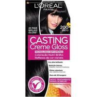 Coloração Casting Creme Gloss L'Oréal Paris 200 Preto - Unissex-Incolor