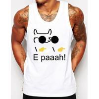 Camiseta Regata Criativa Urbana Engraçados Nerd Geek Memes E Paaah - Masculino-Branco