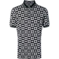 Dolce & Gabbana Camisa Polo Com Estampa De Coroa - Preto