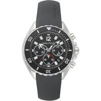Relógio Nautica Masculino Borracha Cinza - Napnwp002