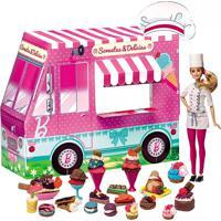 Barbie Massinha Food Truck Sorvetes E Delícias Ref-79679