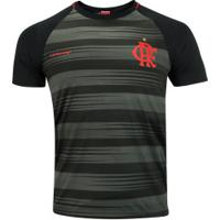 Camiseta Do Flamengo Honda 19 - Masculina - Preto/Cinza Esc