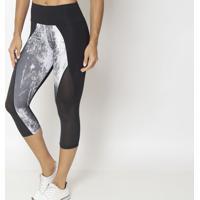 Legging Corsário Com Recortes- Preta & Branca- Physiphysical Fitness
