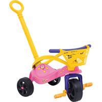 Triciclo Fofinha Com Empurrador, Proteção E Cestinha Rosa Xalingo