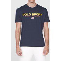 Camiseta Polo Ralph Lauren Lettering Azul-Marinho