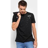 Camiseta Acostamento Rock Roll Masculina - Masculino-Preto