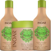 Kit Inoar Macadamia Shampoo Condicionador 250 Ml Mascara 500Ml