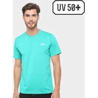 Camiseta Surf Mormaii Proteção Uv 50+ Masculina - Masculino-Azul Piscina