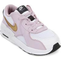 Tênis Infantil Nike Air Max Excee Td - Unissex-Branco+Dourado