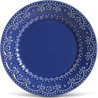 Prato Raso Esparta Cerâmica 6 Peças Azul Navy Porto Brasil