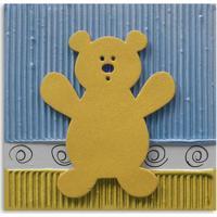Quadro Urso Uniart Amarelo 30X30Cm