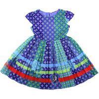 Vestido Infantil Em Voil De Poliéster Com Forro De Tricoline De Poliéster - 1+1 Royal