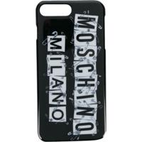Moschino Capa Para Iphone 8 Plus - Preto