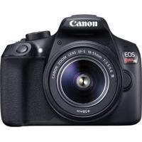 Câmera Canon Eos Rebel T6 18Mp Lente Ef-S 18-55Mm Preto