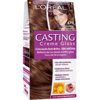 Coloração Permanente Casting Creme Gloss N° 670 Chocolate Com Pimenta L'Oréal 1 Unidade