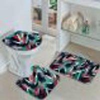 Jogo Tapetes Para Banheiro Abstrato Único