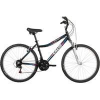 Bicicleta Mobilidade Caloi Rouge Aro 26 - Susp Dianteira - Quadro Alumínio - 21 Velocidades - Preto