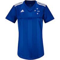 Camisa Do Cruzeiro I 2020 Adidas - Feminina - Azul