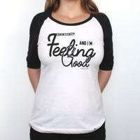 Feeling Good - Camiseta Raglan Manga ¾ Feminina
