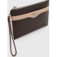 Carteira Guess Letters Marrom/Nude