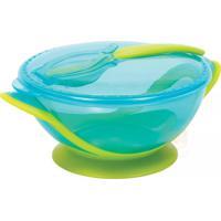 Kit Refeição Com Colher Para Bebê Azul - Buba