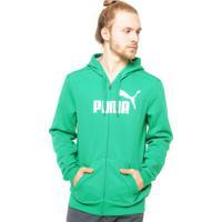 Moletom Puma Fundamentals Ess No.1Logo Hooded Verde