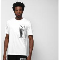 Camiseta Puma Nu-Tility Masculina - Masculino-Branco