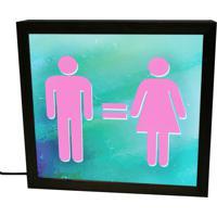 Luminária Prolab Gift Lightbox Igualdade Preta