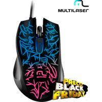 Mouse Gamer Fusion Com Led Multicolorido, Ergonômico E 1000Dpi- Multilaser Mo227