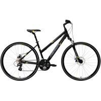 Bicicleta Merida Crossway 15 Md - Aro 700 - Freio A Disco Mecânico - Quadro 50Cm - 24 Marchas - Preto/Amarelo