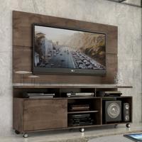 "Rack Com Painel Home Leblon 1,6 M Para Tv 55"" Marrom - Marrom - Dafiti"
