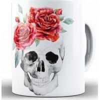 Caneca Skull Flowers