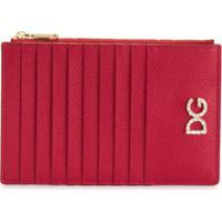 Dolce & Gabbana Porta-Cartões Com Logo E Cristal - Vermelho