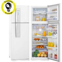 Refrigerador   Geladeira Electrolux Frost Free 2 Portas Com Controle De Temperatura Blue Touch 382 Litros Branco - Df42