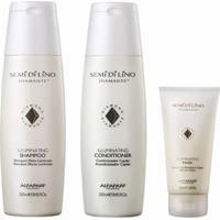 Kit Shampoo Condicionador E Máscara Alfaparf Semi Di Lino Completo