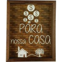 Quadro Cofre Madeira Rútico Decorativo Para Nossa Casa