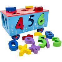 Carrinho De Madeira Educativo Infantil Passa Números 4885