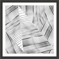 Quadro Decorativo Com Moldura Abstrato I Preto