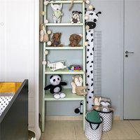 Adesivo Parede Régua Infantil Girafinha 1,40M Gráo De Gente Preto
