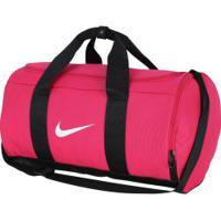 Mala Nike Team Duffle - 27 Litros - Rosa Esc/Preto