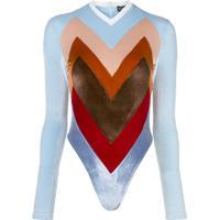 Y/Project Colour-Block Bodysuit - Azul