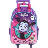 Mala Escolar Vampirina®- Roxa & Preta- 52X30X16Cm