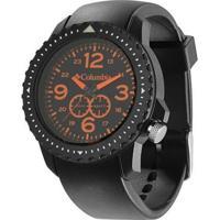 Relógio De Pulso Columbia Urbaneer - Masculino-Preto+Laranja